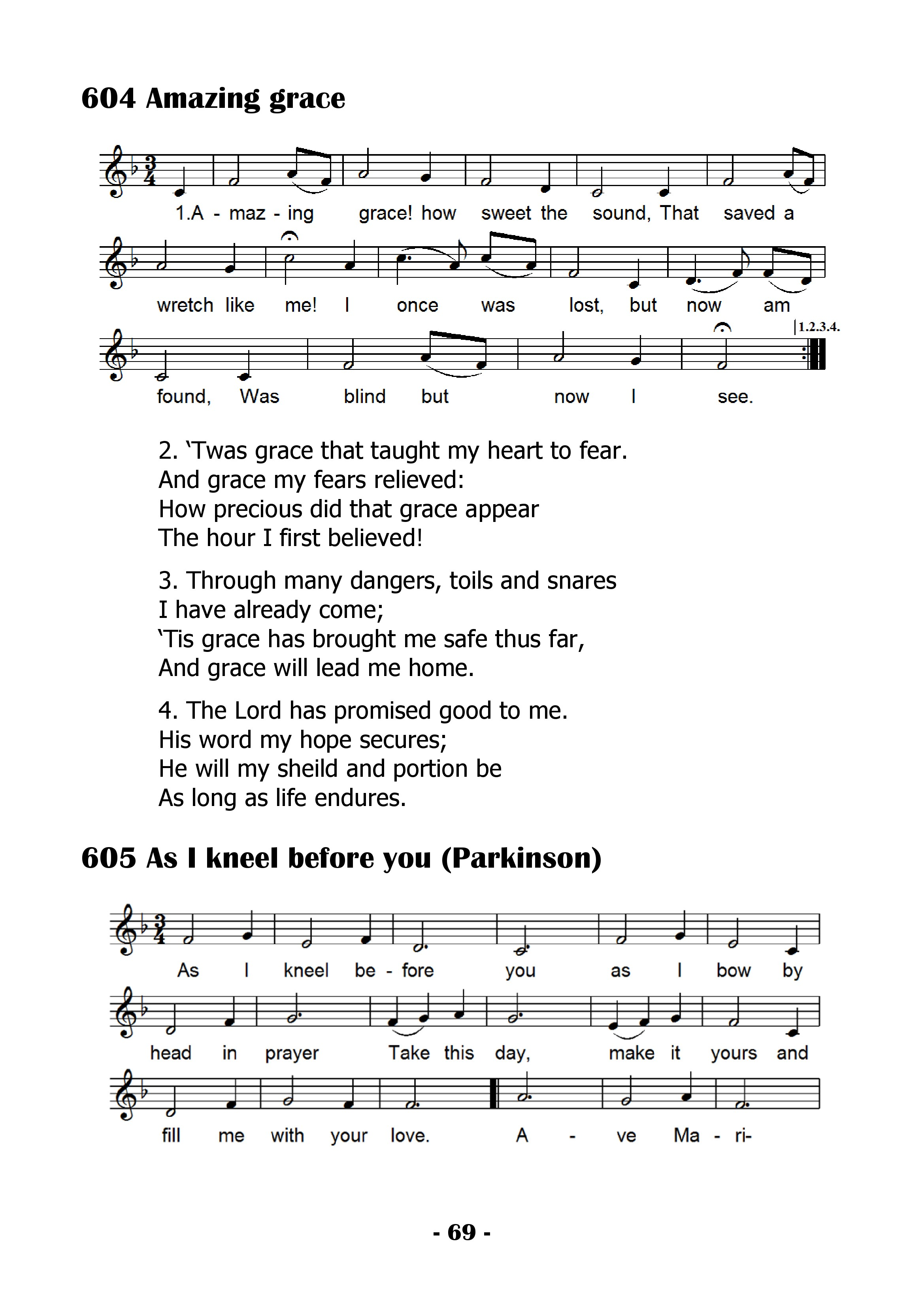 Single pages of the hymnal 2011 0069g hexwebz Gallery
